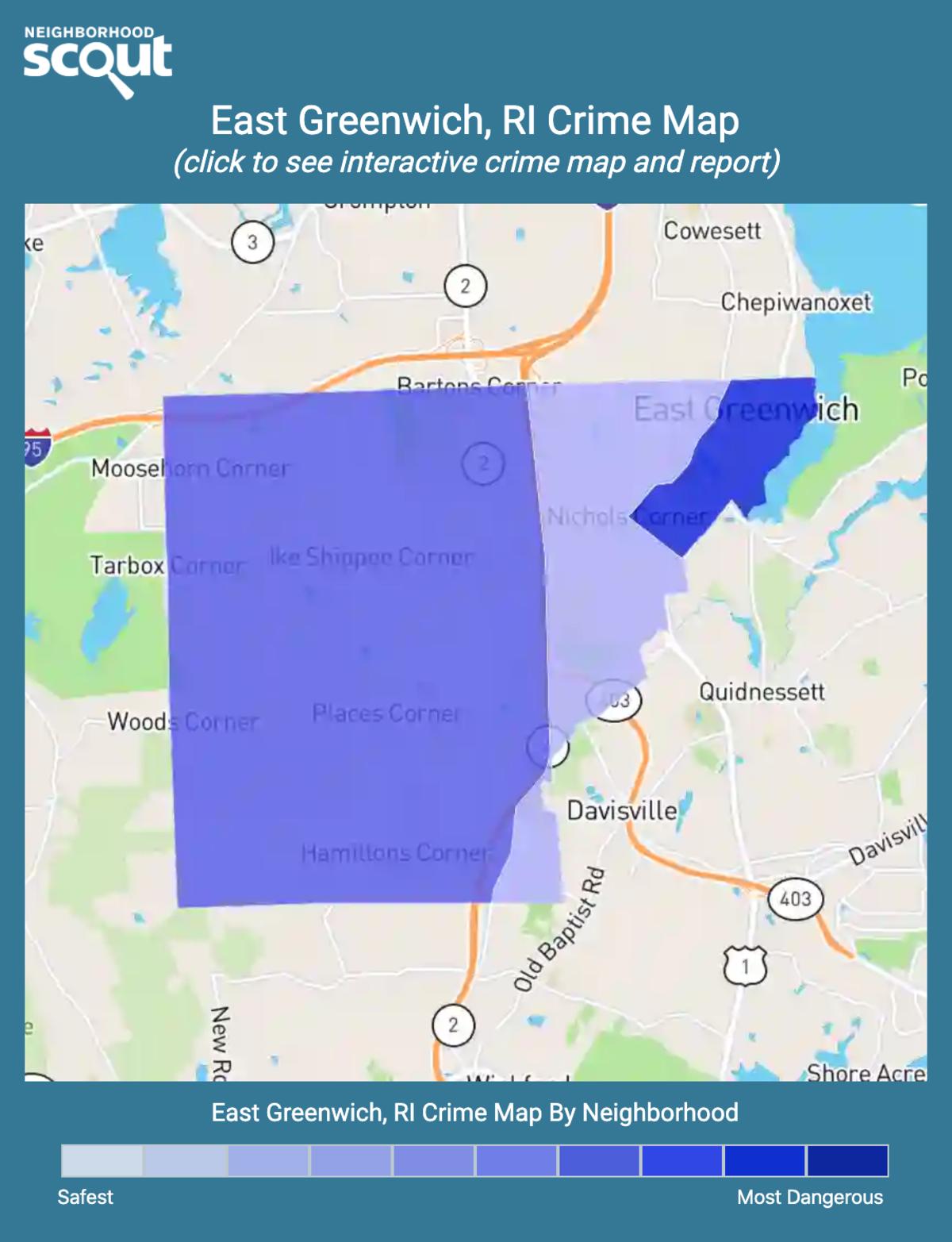 East Greenwich, Rhode Island crime map
