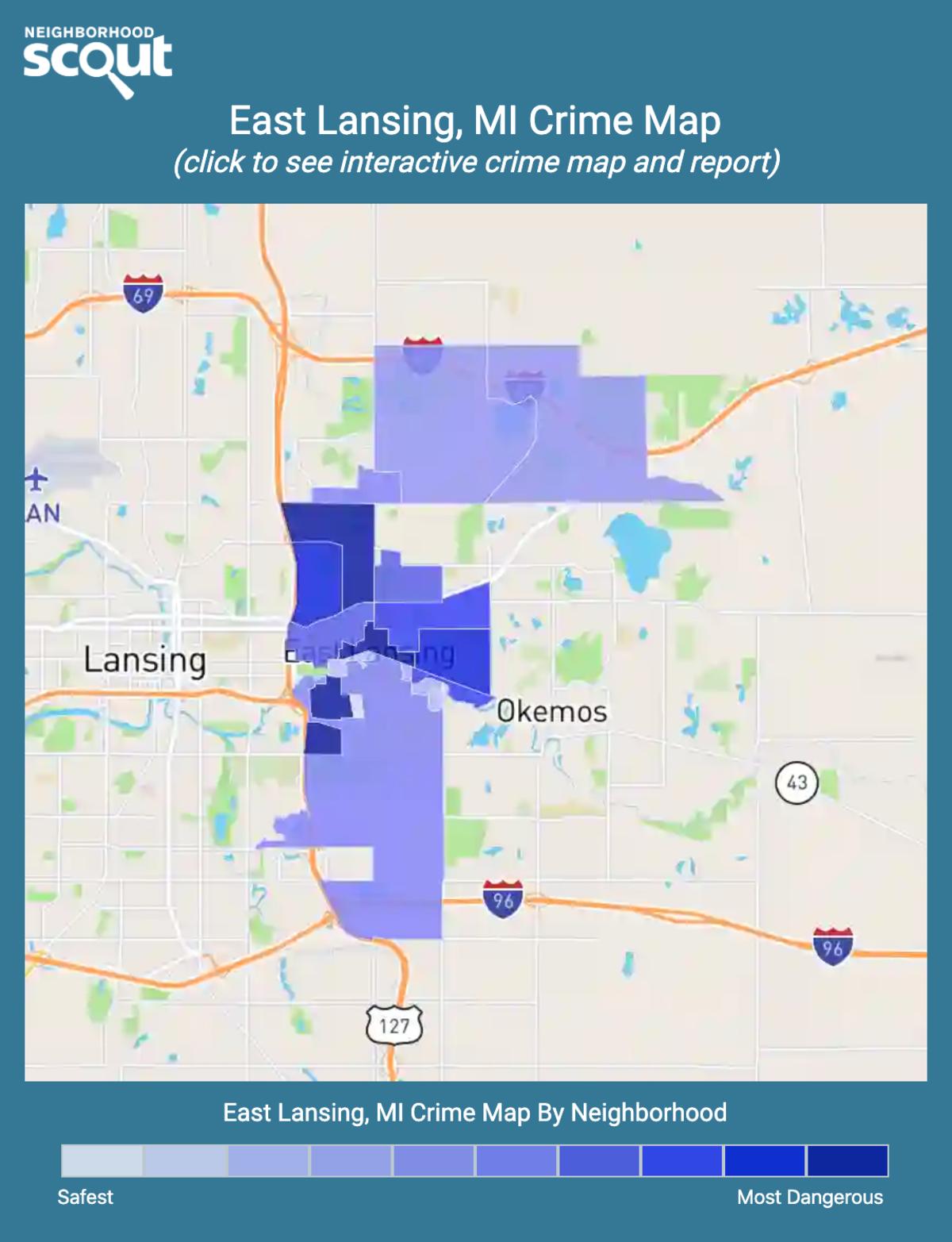 East Lansing, Michigan crime map