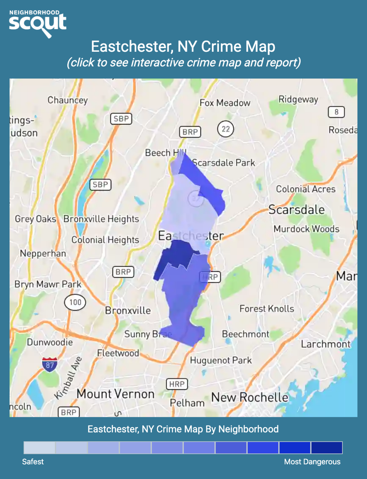 Eastchester, New York crime map