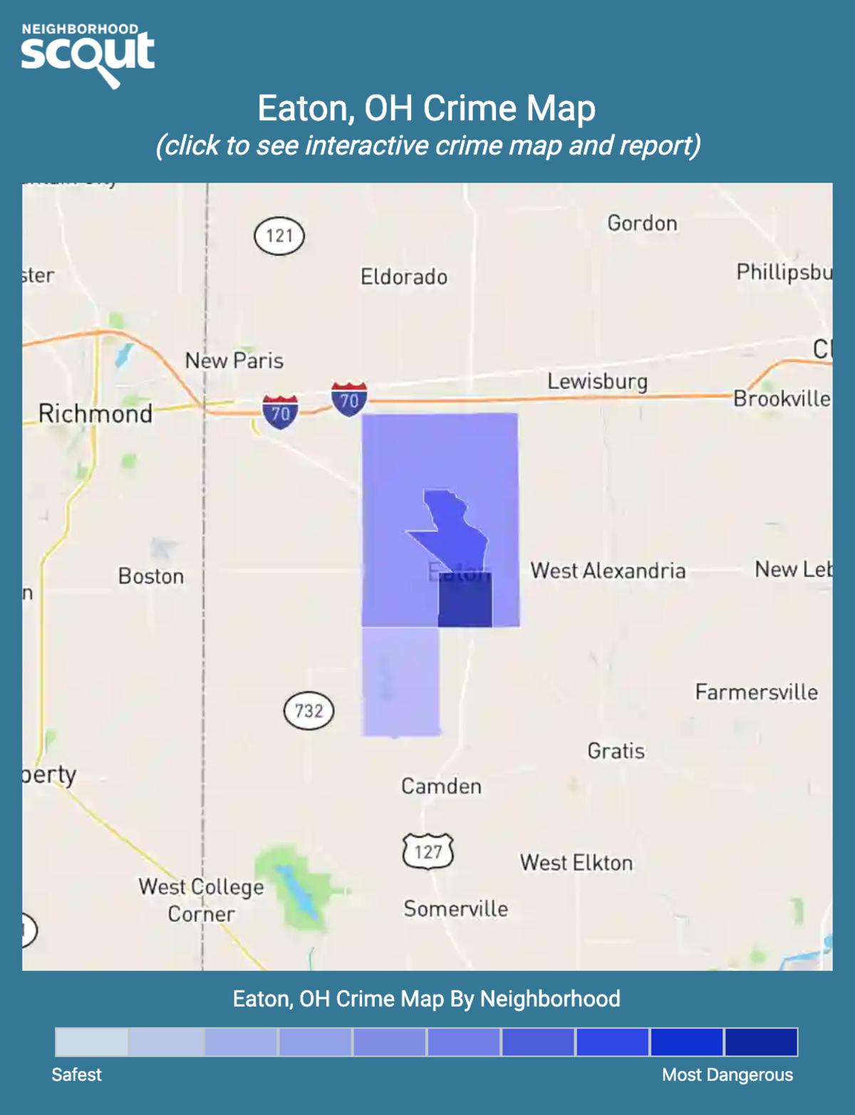 Eaton, Ohio crime map