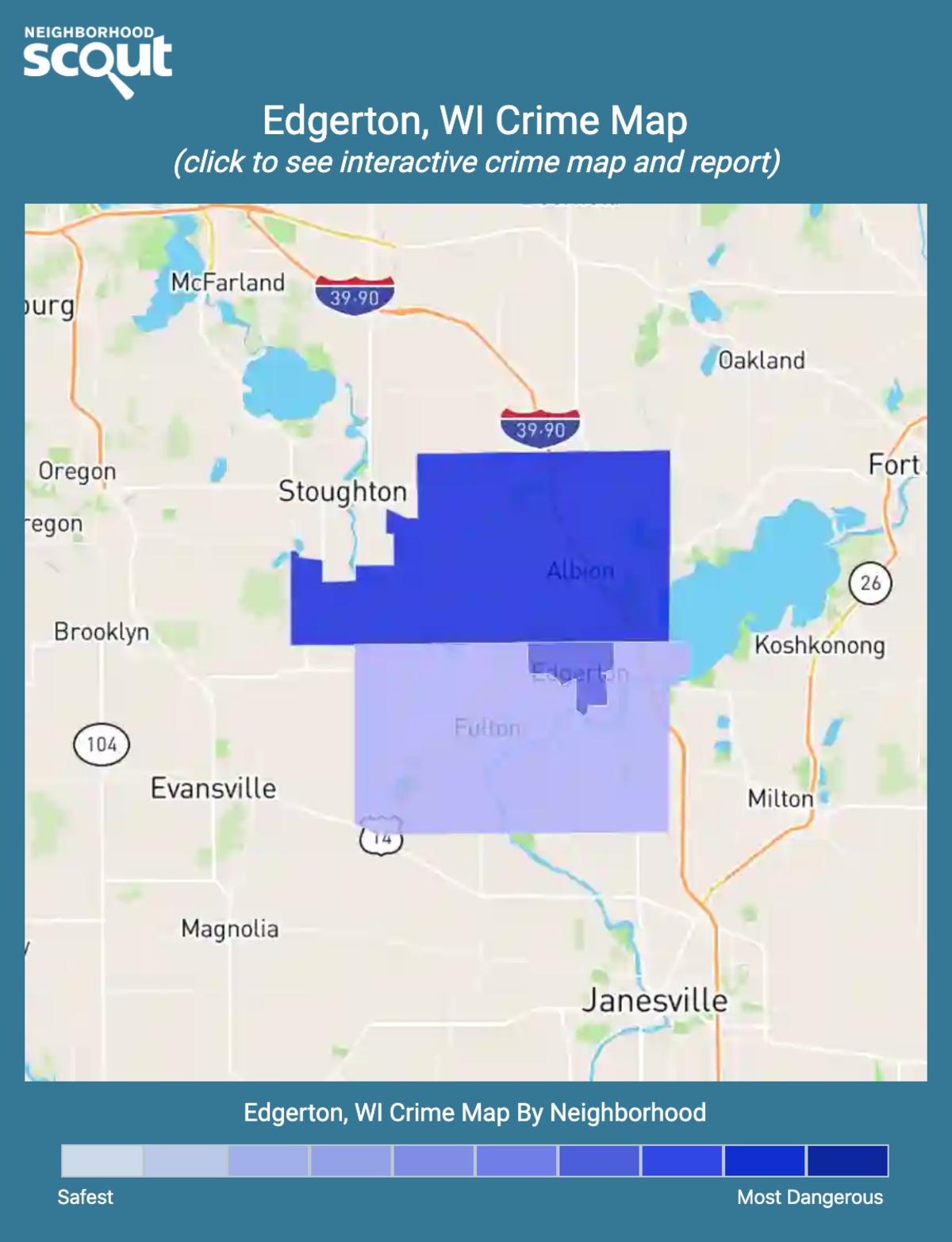 Edgerton, Wisconsin crime map