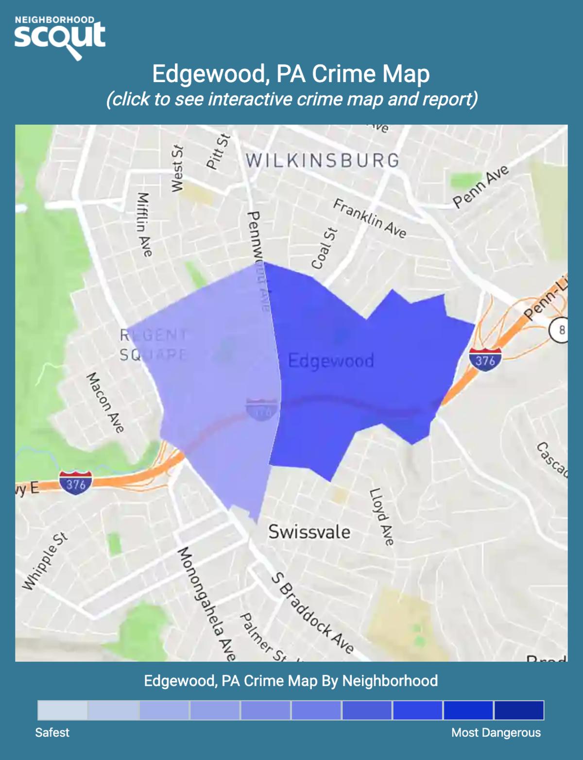 Edgewood, Pennsylvania crime map