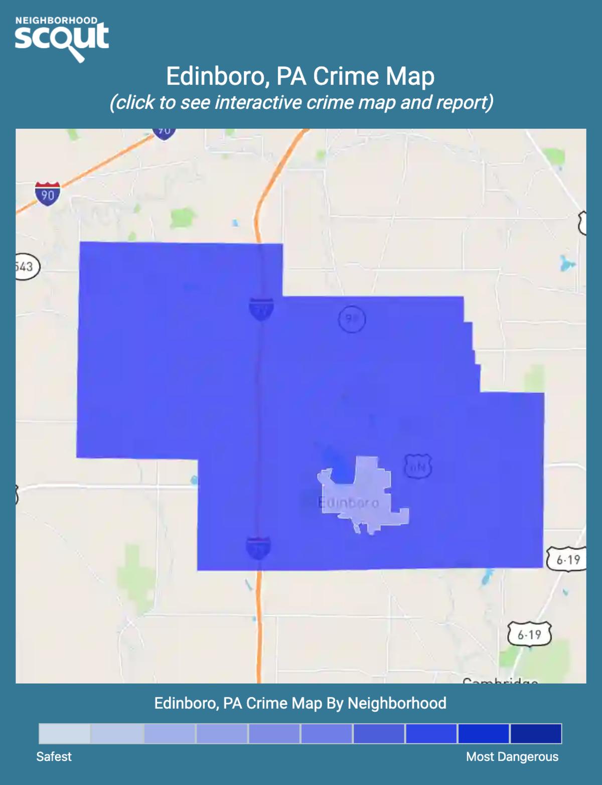 Edinboro, Pennsylvania crime map