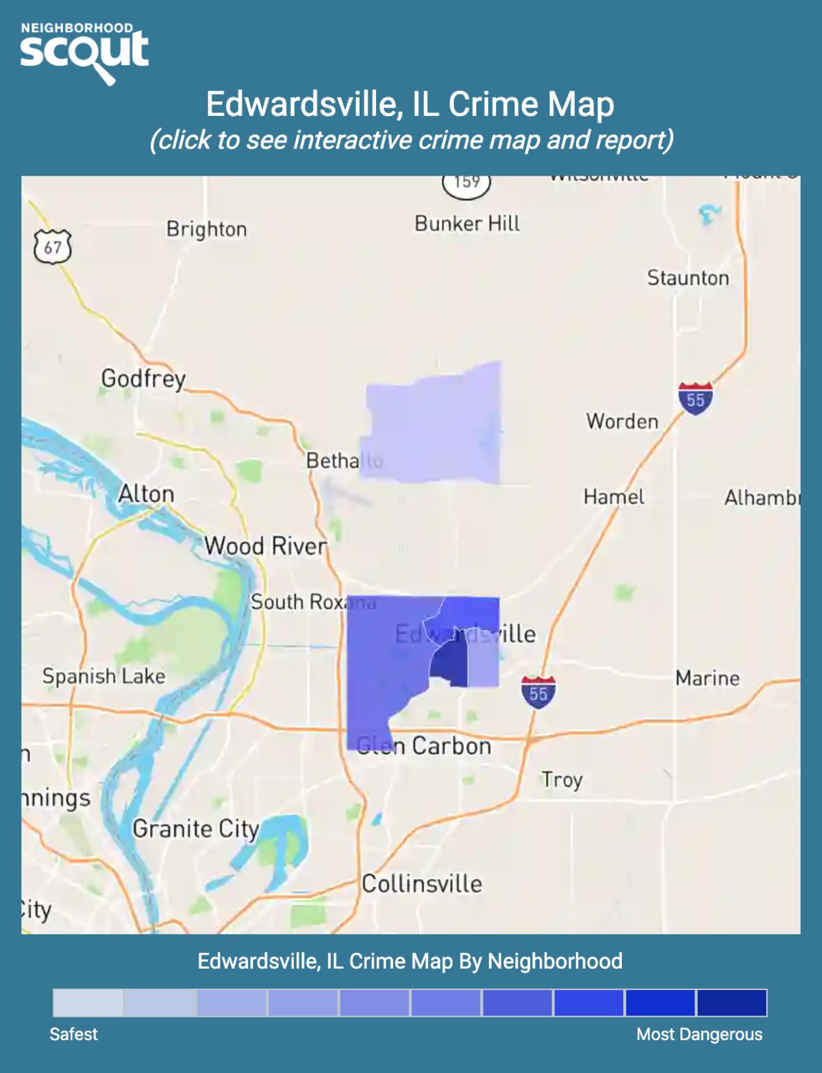 Edwardsville, Illinois crime map