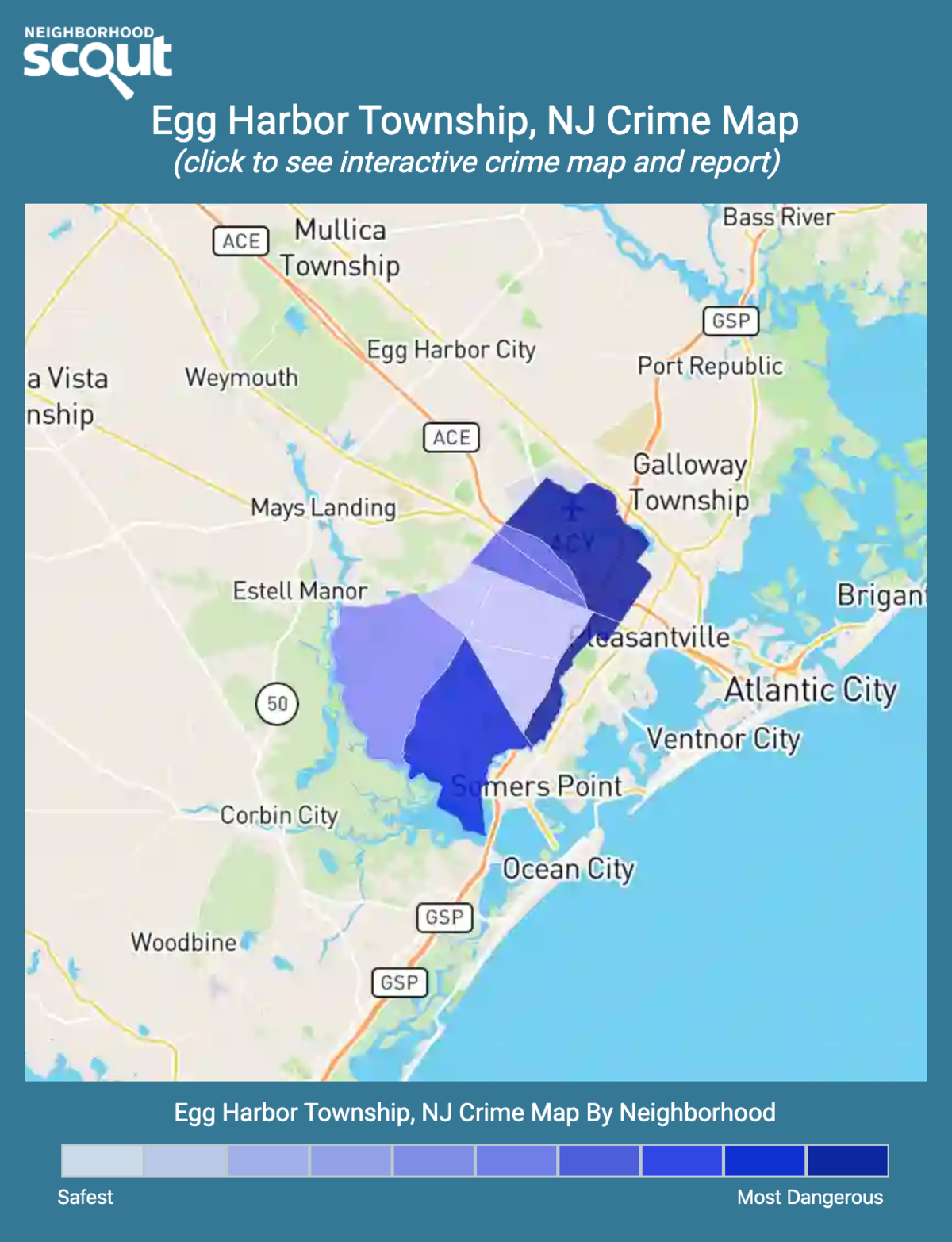 Egg Harbor Township, New Jersey crime map