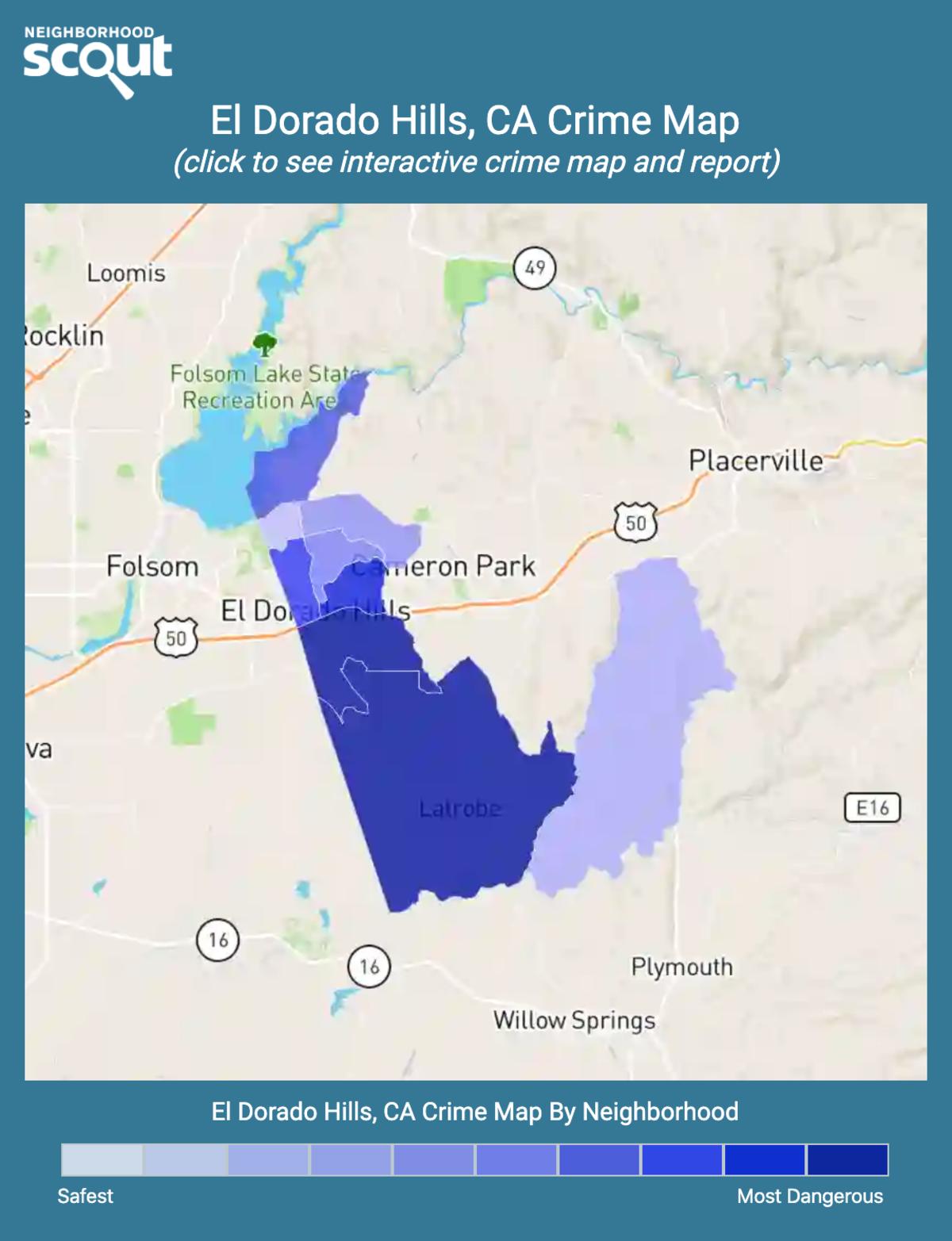 El Dorado Hills, California crime map