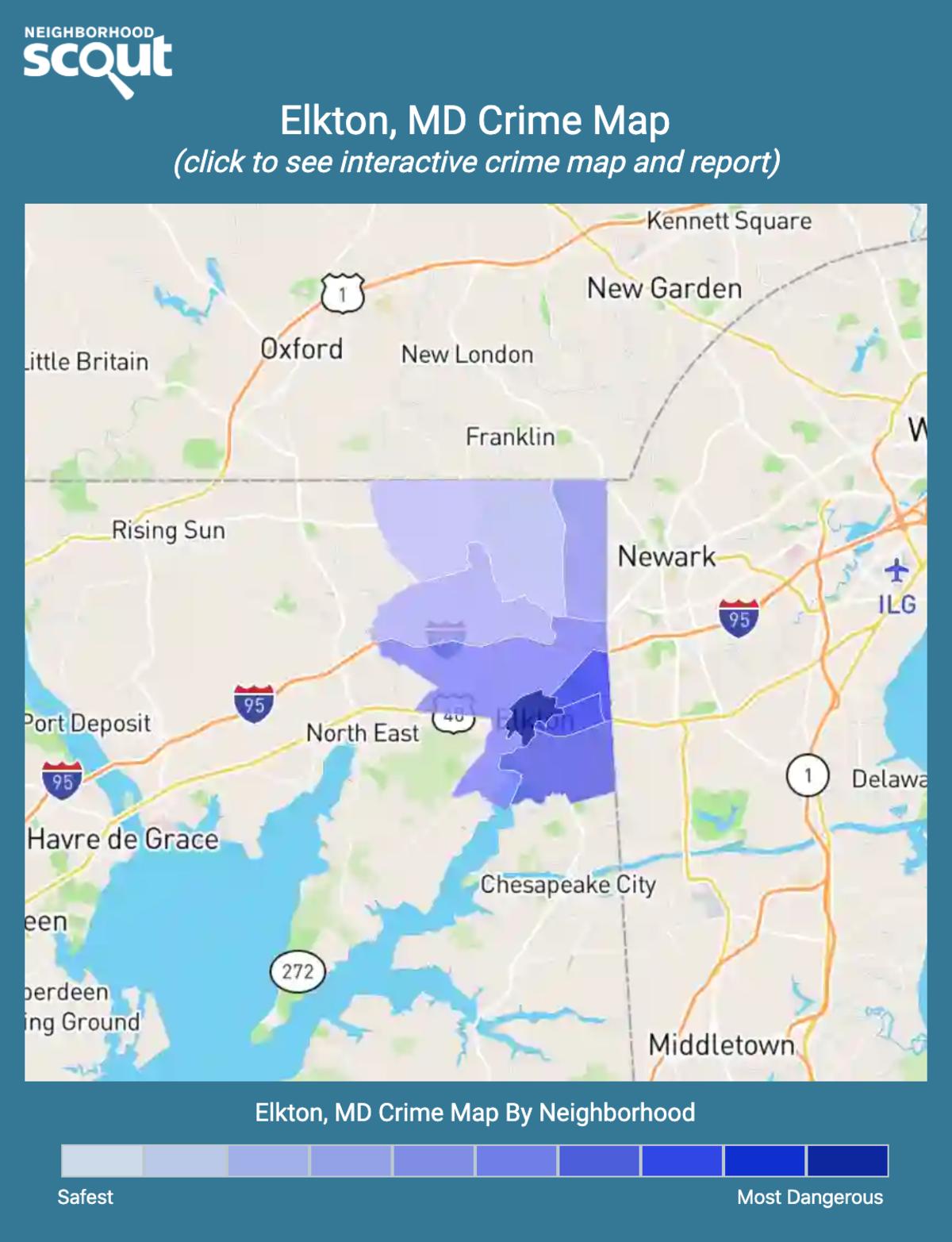 Elkton, Maryland crime map