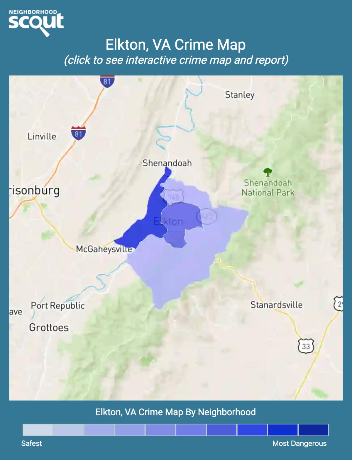 Elkton, Virginia crime map