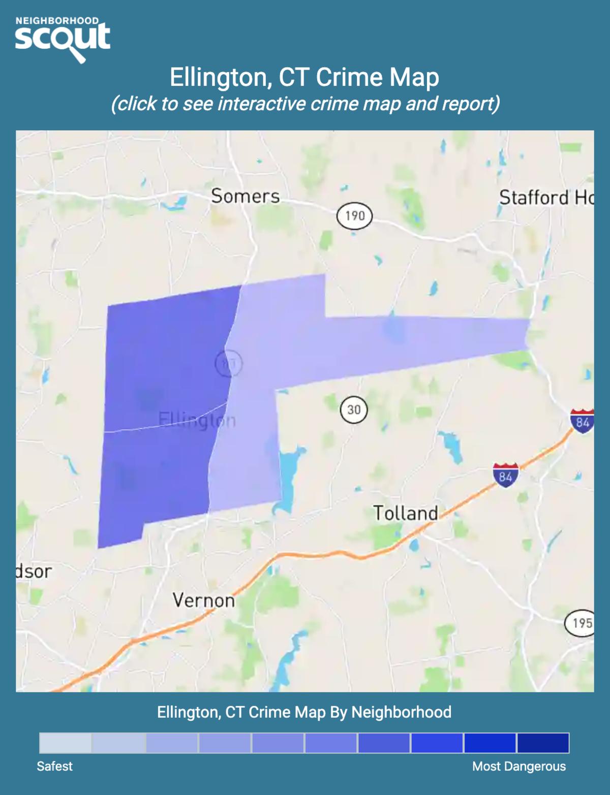 Ellington, Connecticut crime map