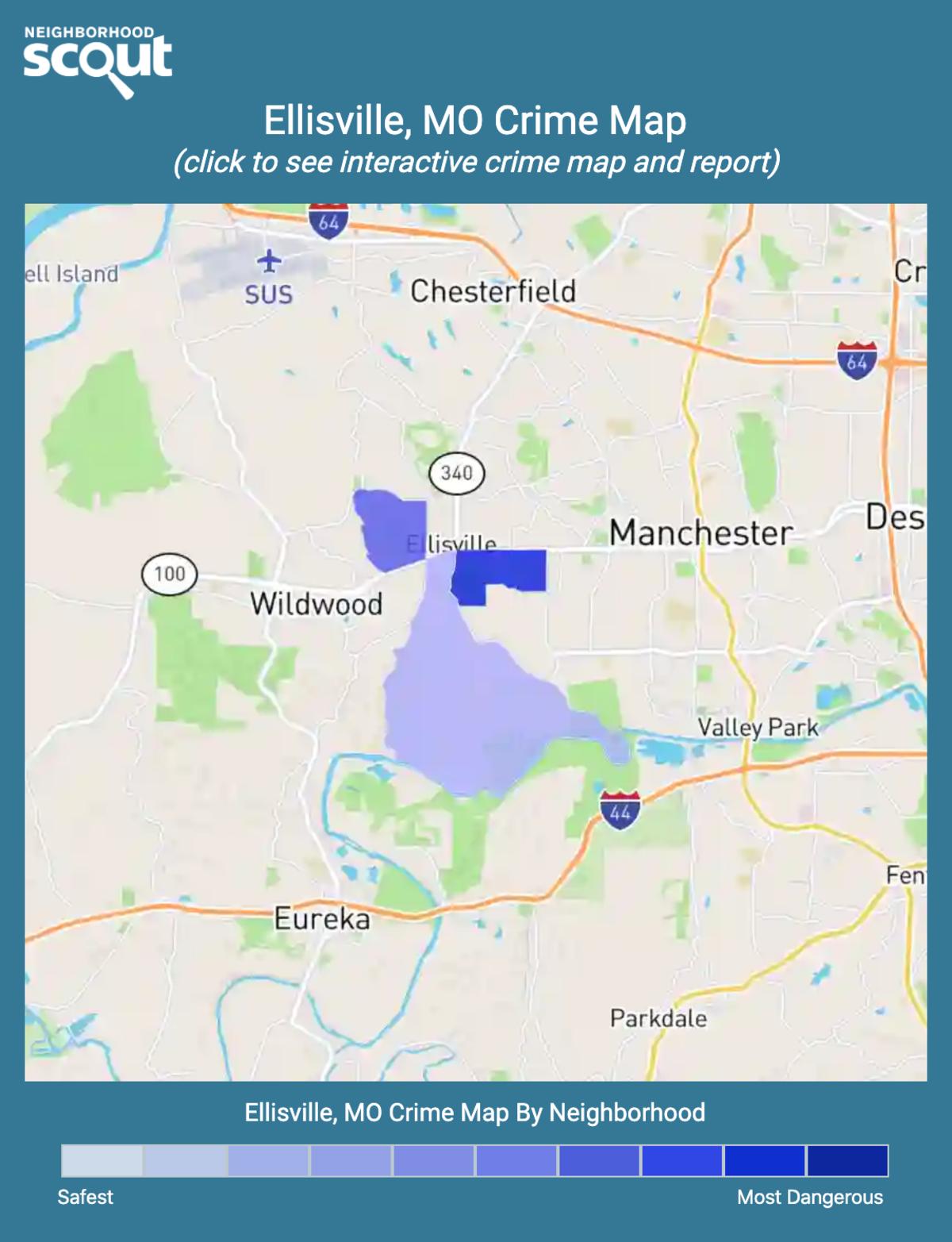 Ellisville, Missouri crime map