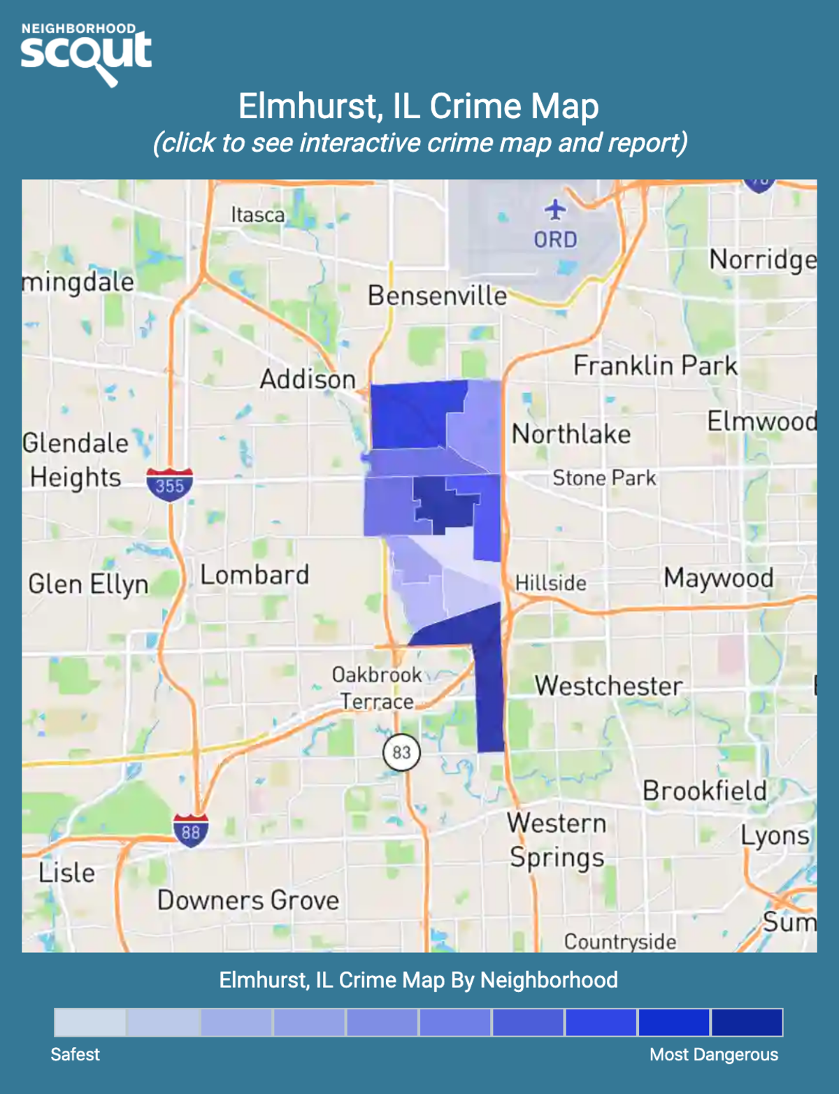 Elmhurst, Illinois crime map