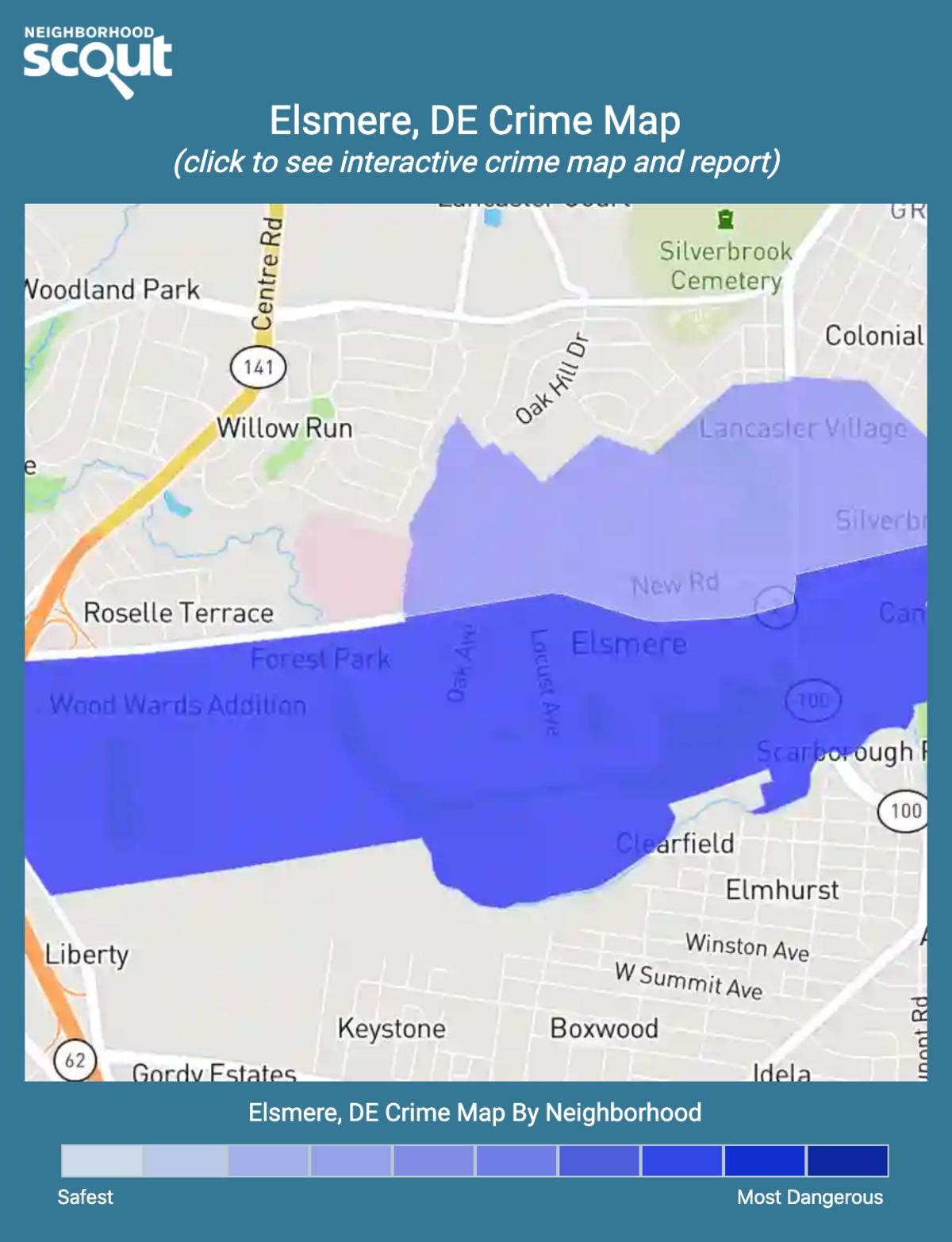 Elsmere, Delaware crime map