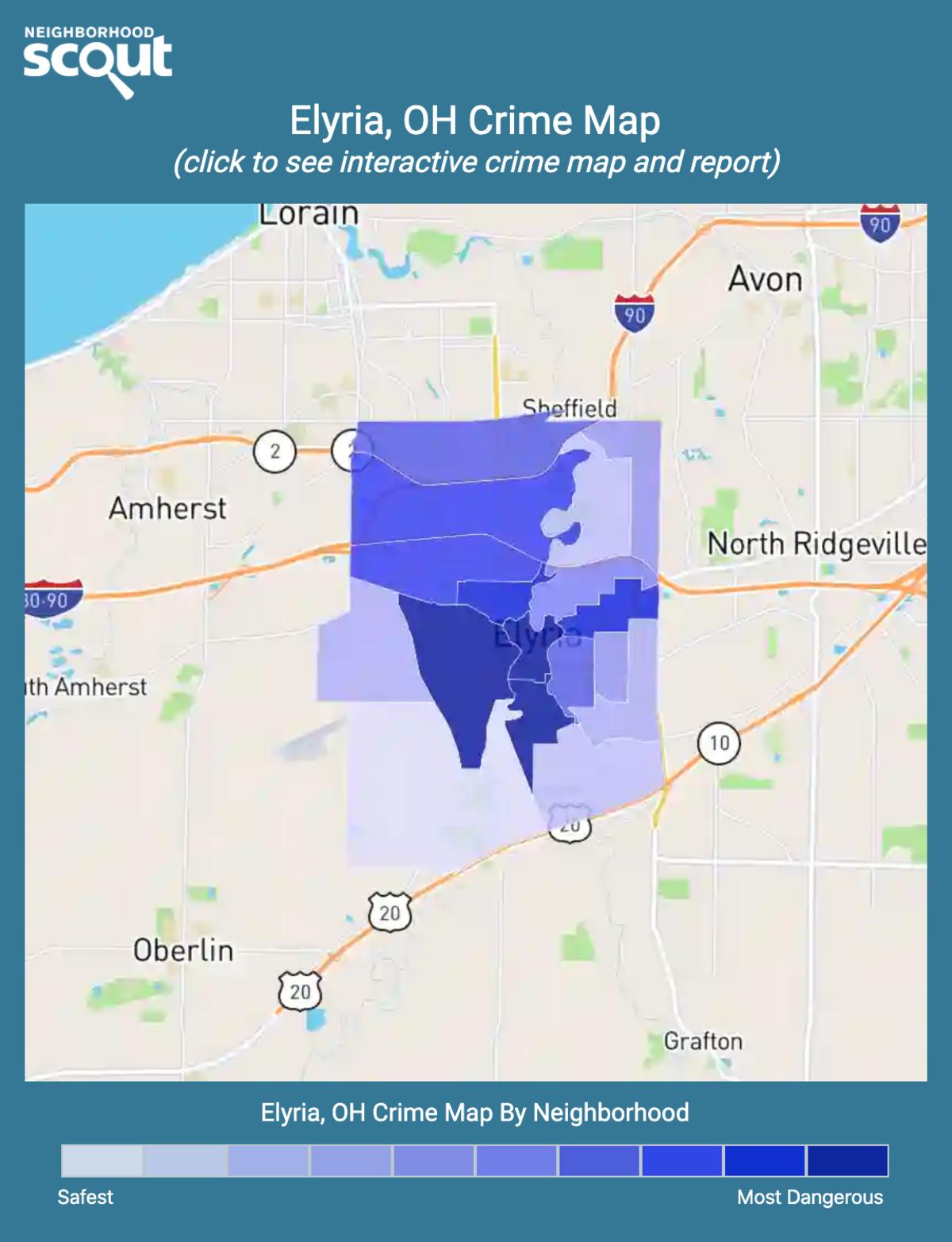 Elyria, Ohio crime map