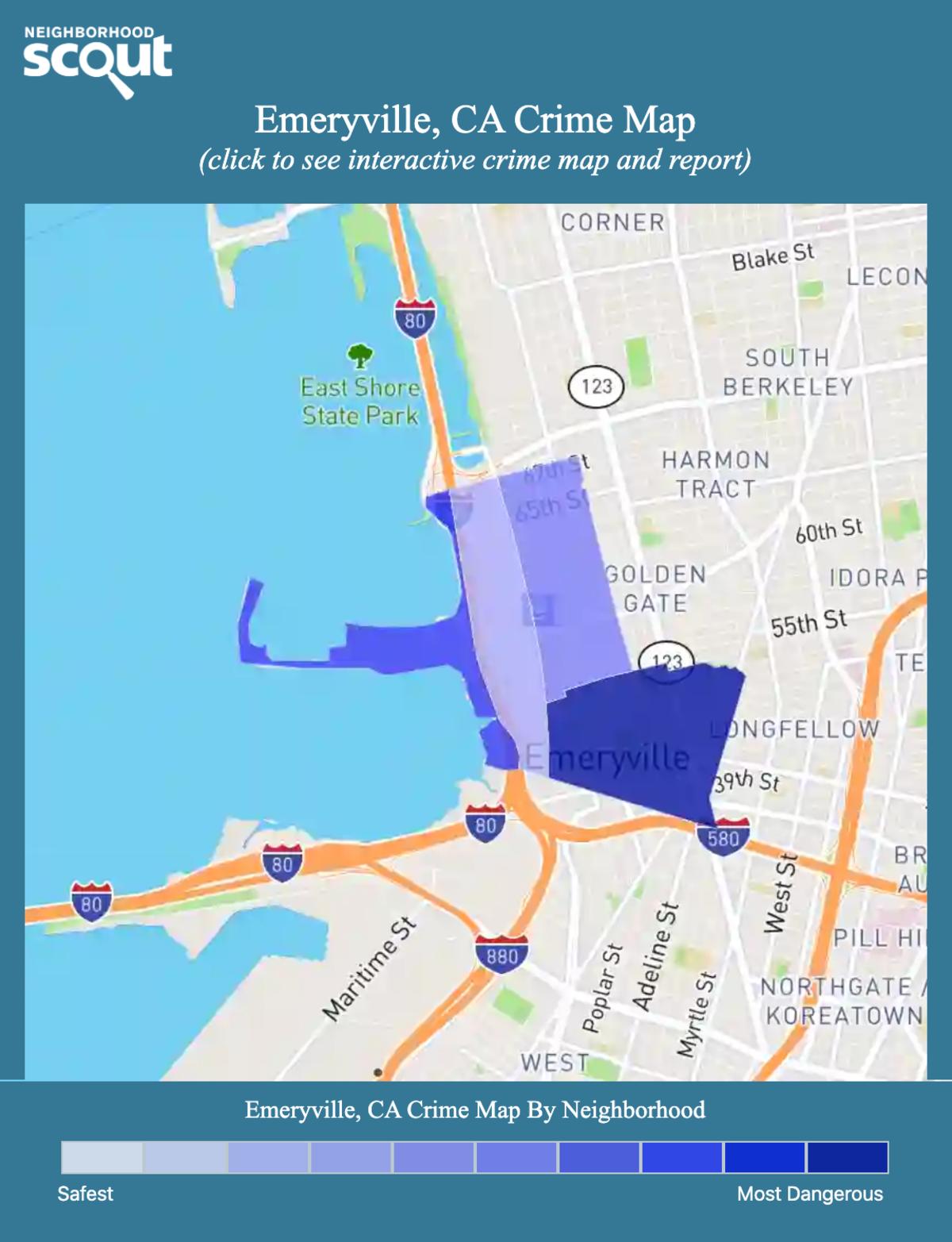 Emeryville, California crime map