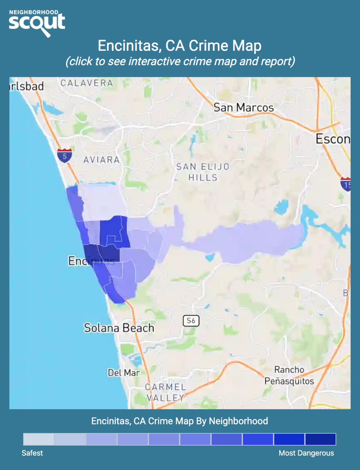Encinitas, California crime map