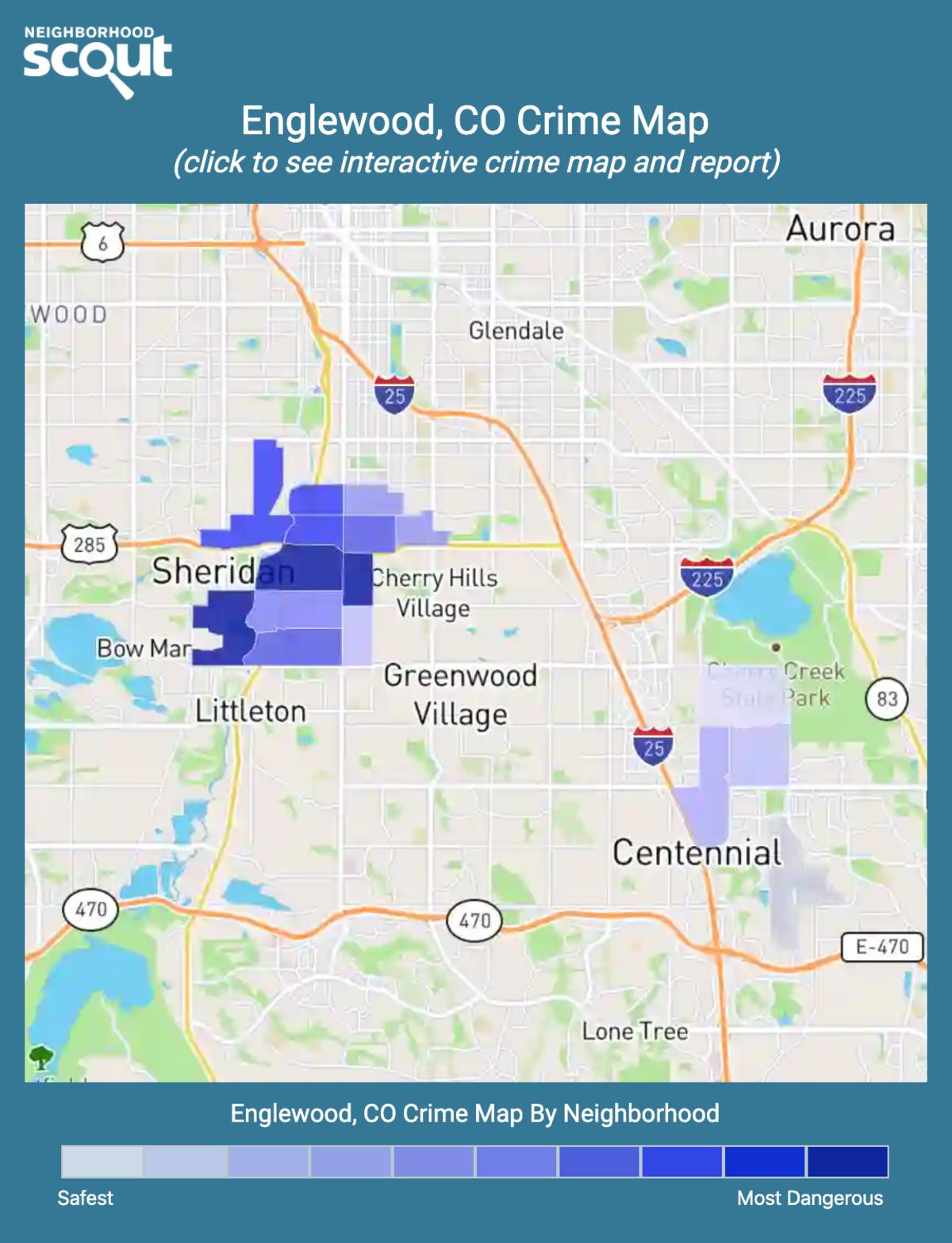 Englewood, Colorado crime map