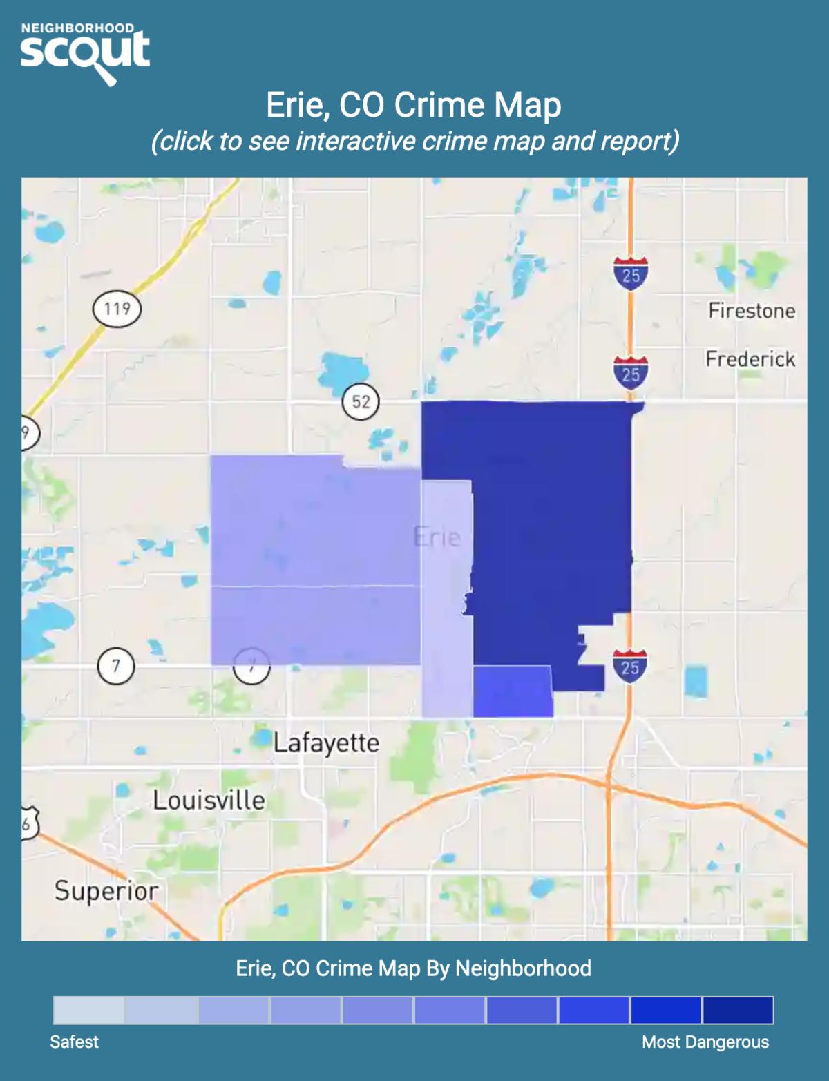 Erie, Colorado crime map