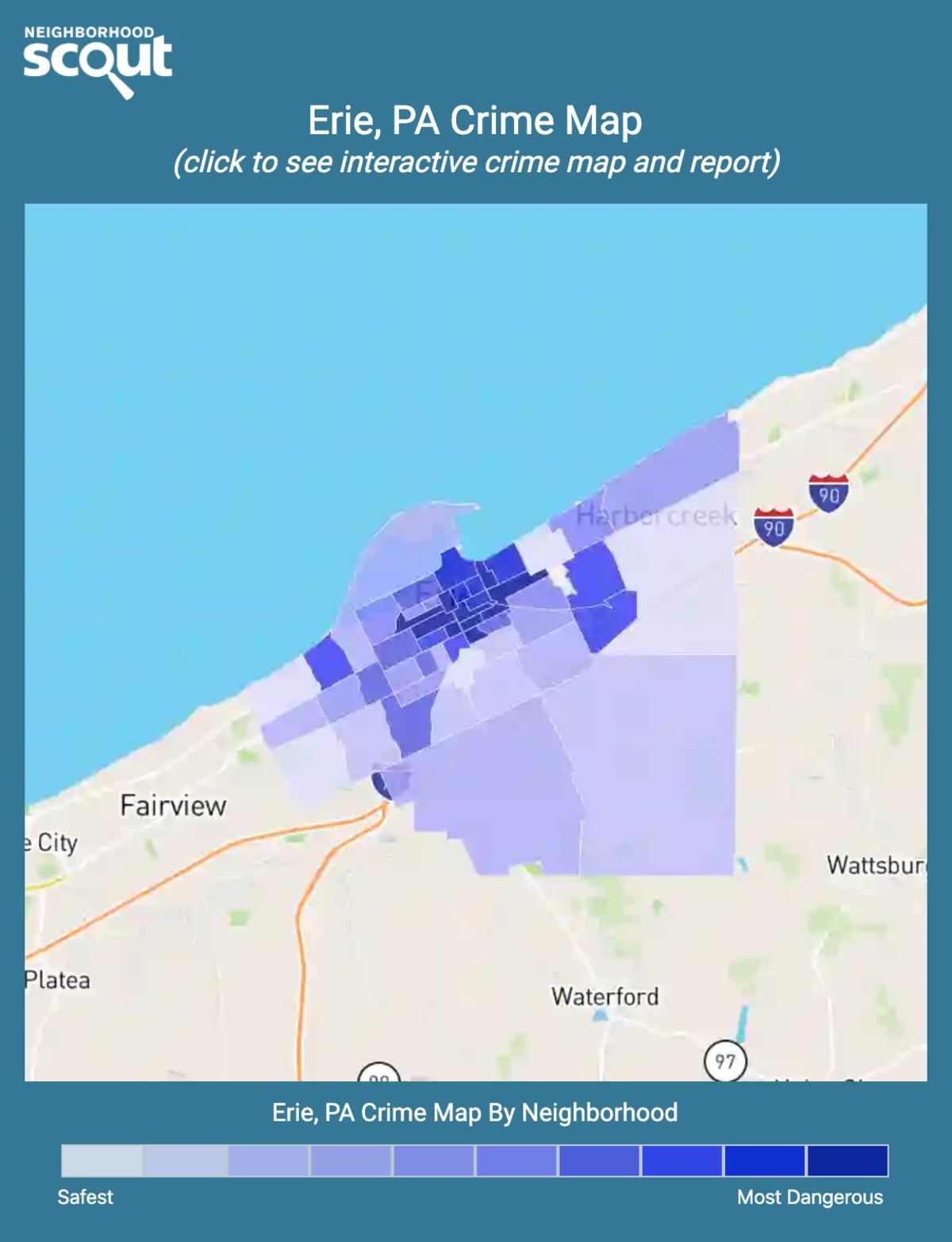 Erie, Pennsylvania crime map