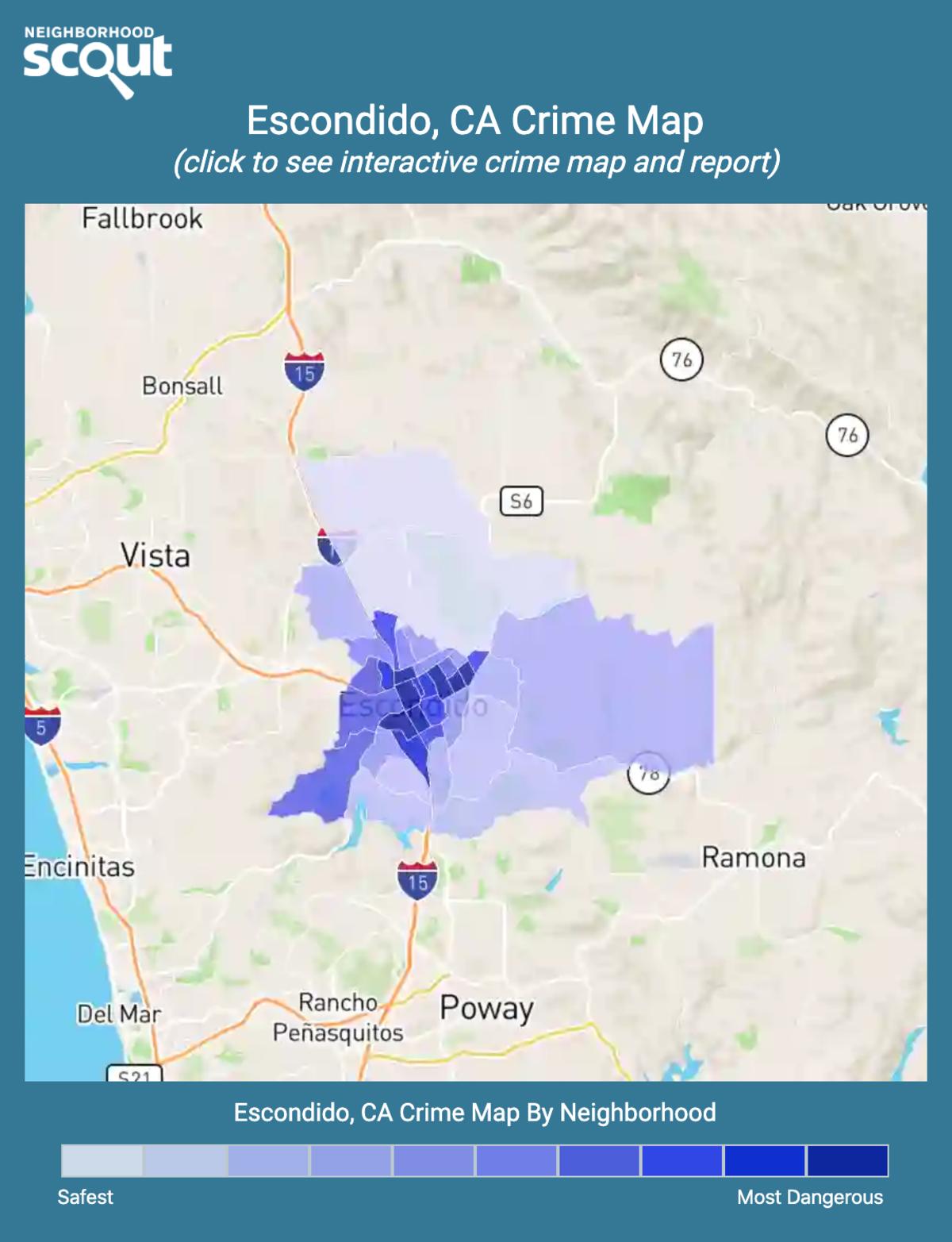 Escondido, California crime map