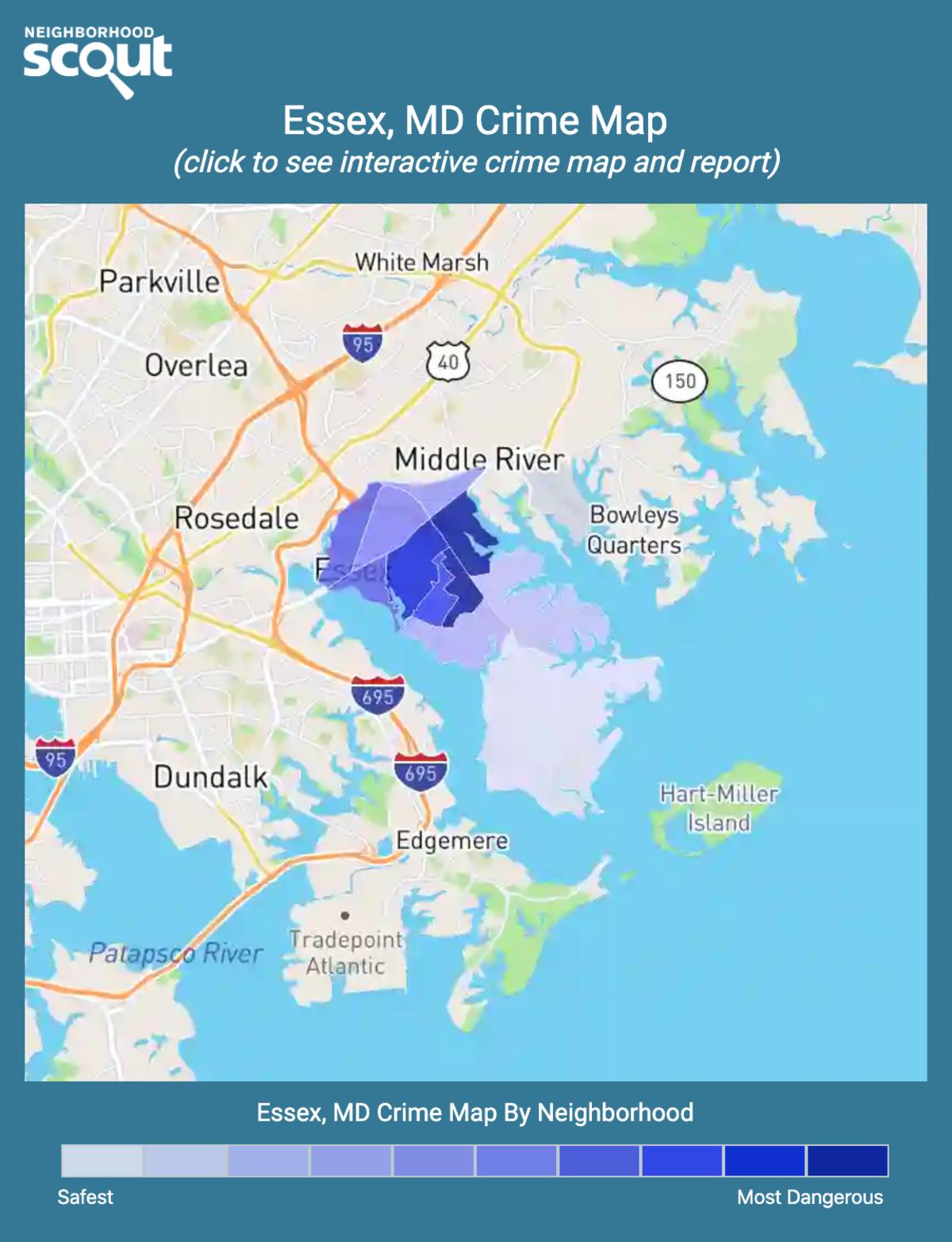 Essex, Maryland crime map