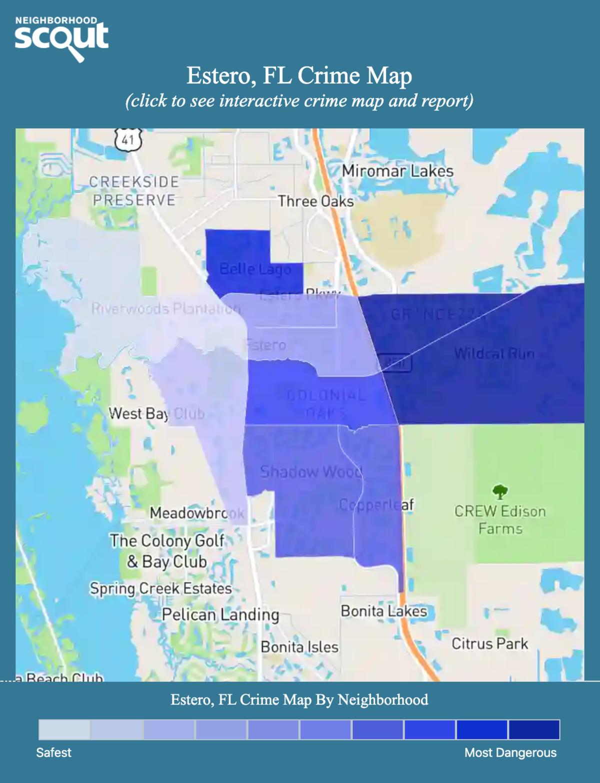 Estero, Florida crime map