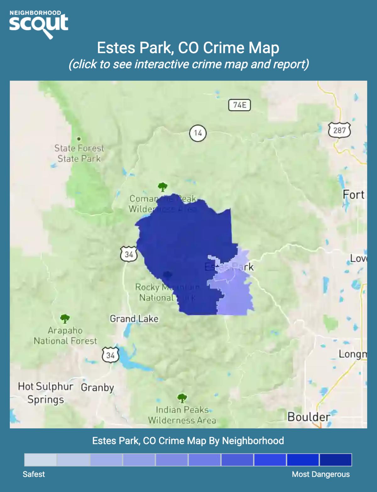 Estes Park, Colorado crime map