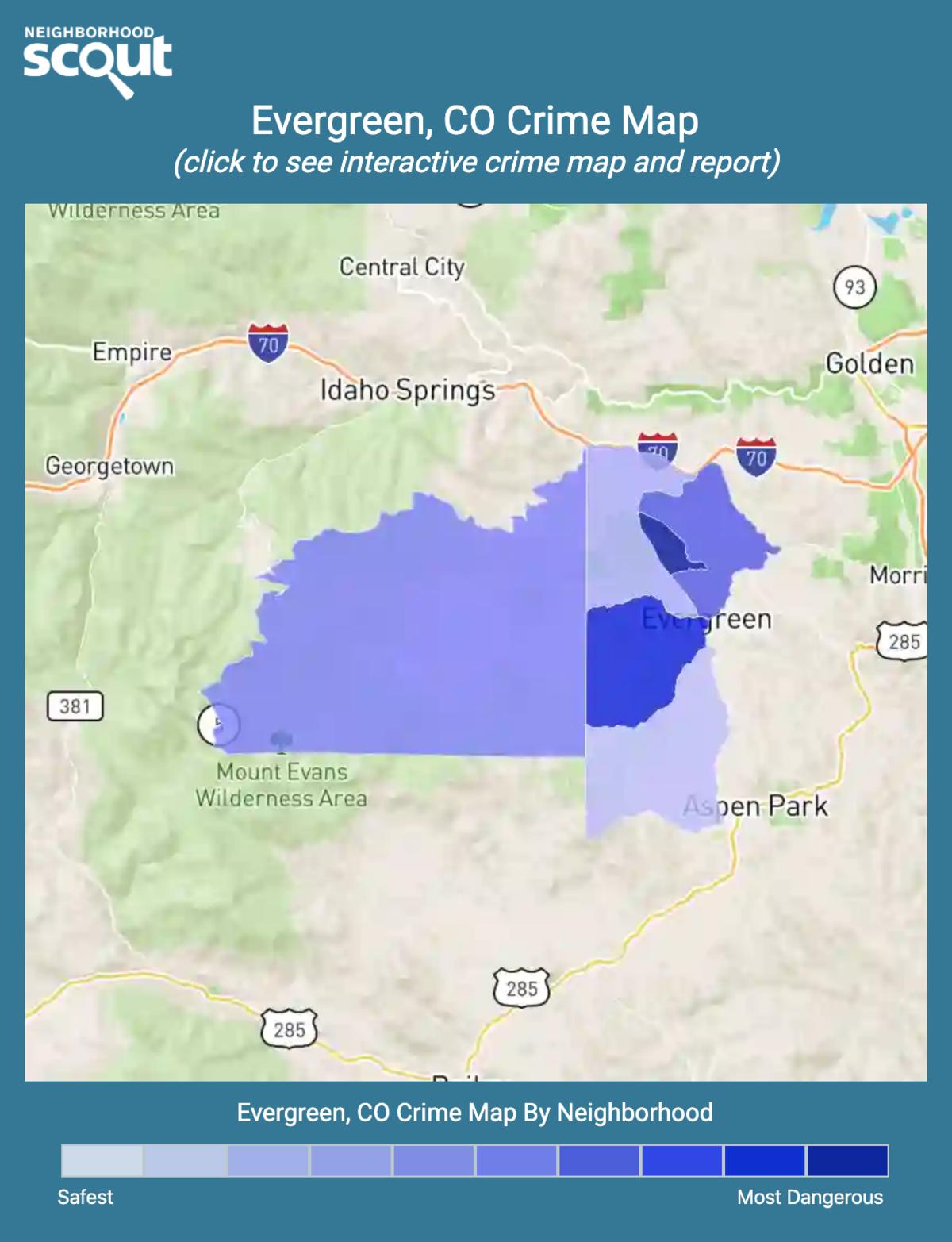 Evergreen, Colorado crime map