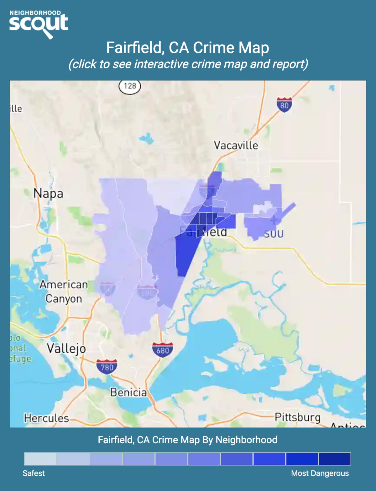 Fairfield, California crime map