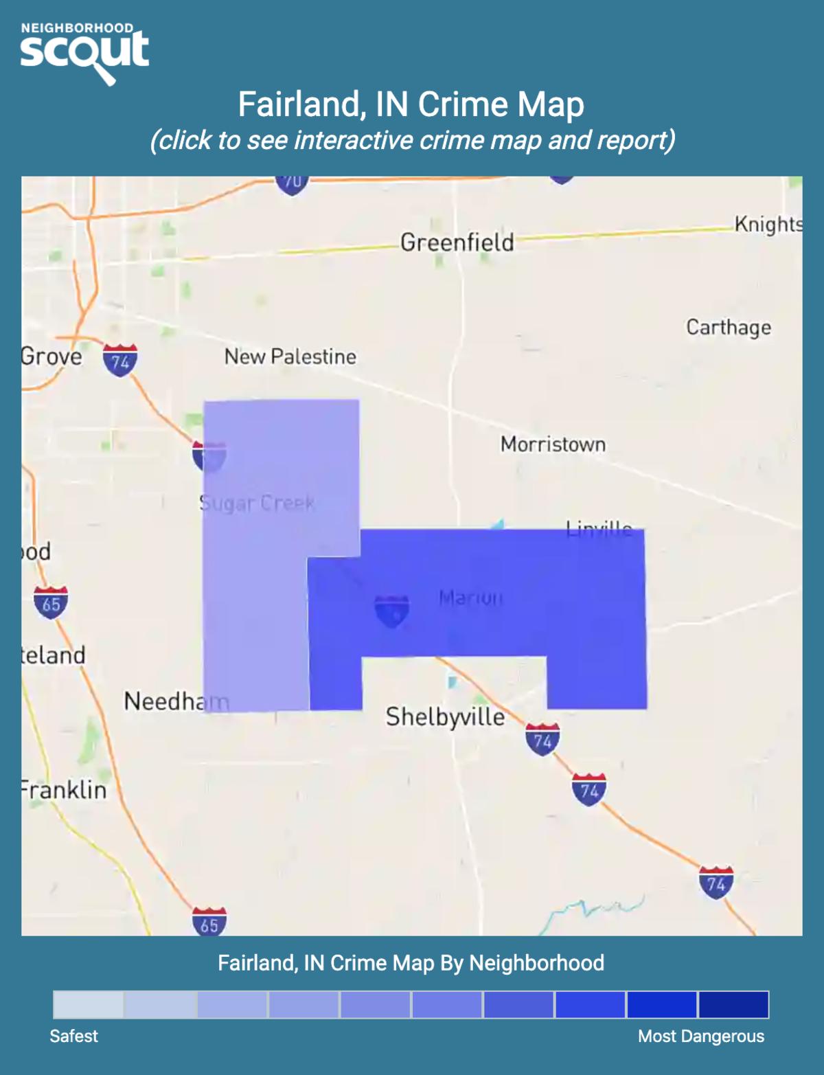 Fairland, Indiana crime map