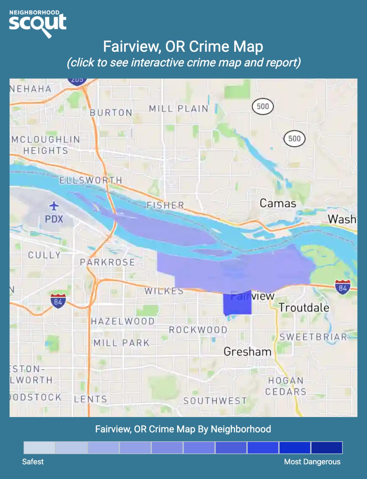 Fairview, Oregon crime map