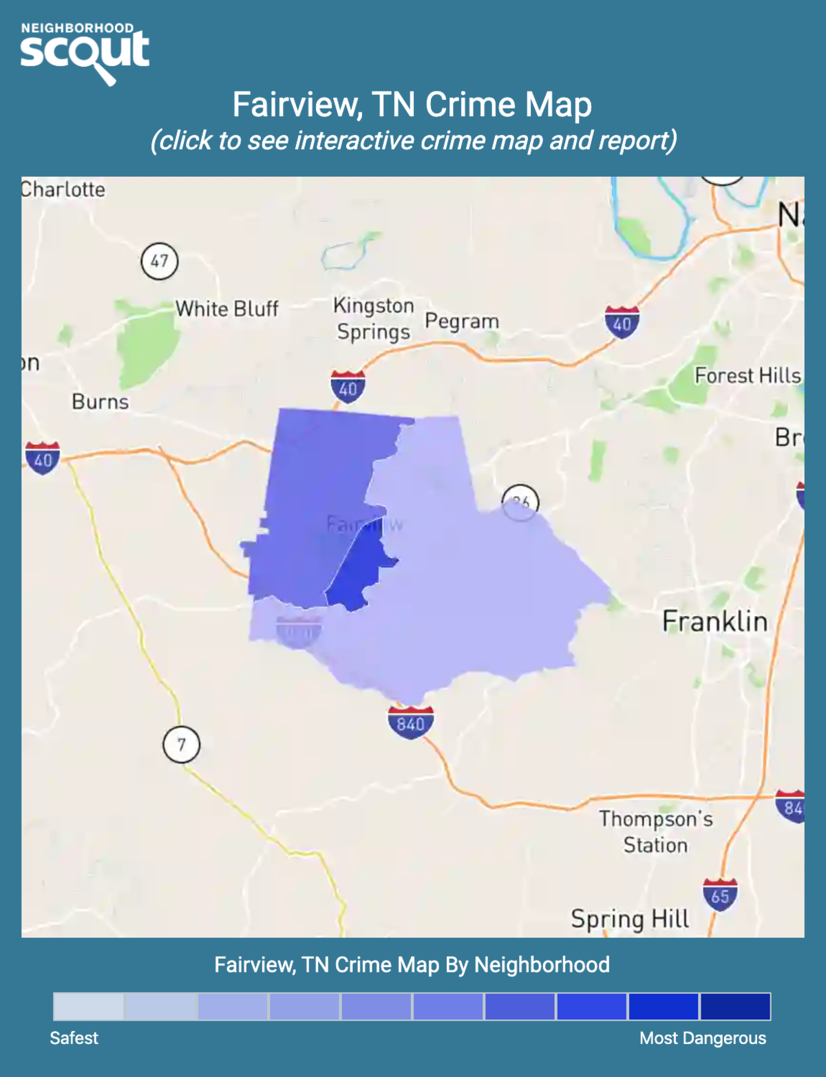 Fairview, Tennessee crime map