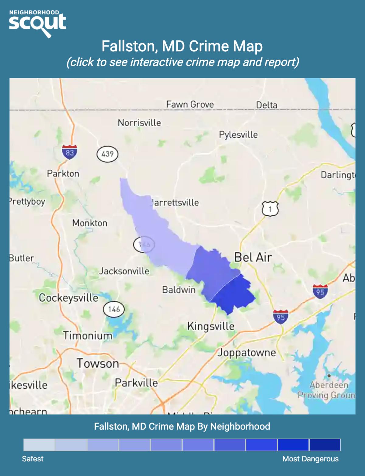 Fallston, Maryland crime map