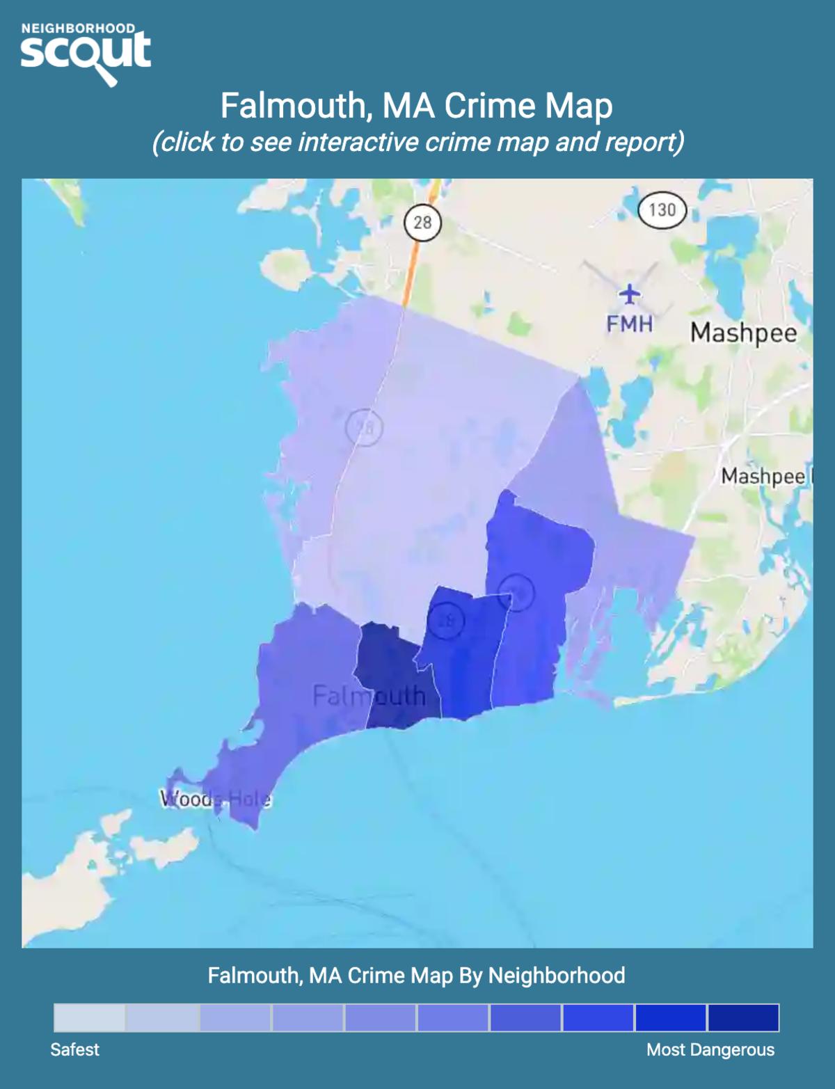 Falmouth, Massachusetts crime map