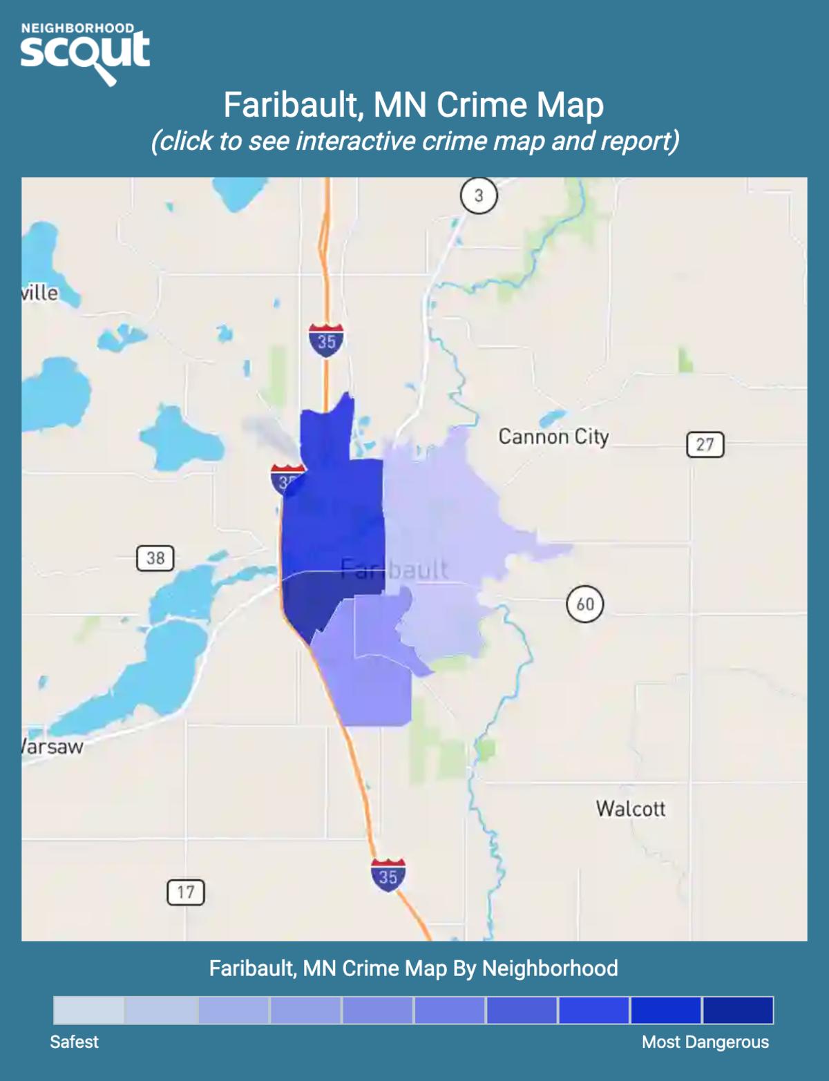 Faribault, Minnesota crime map