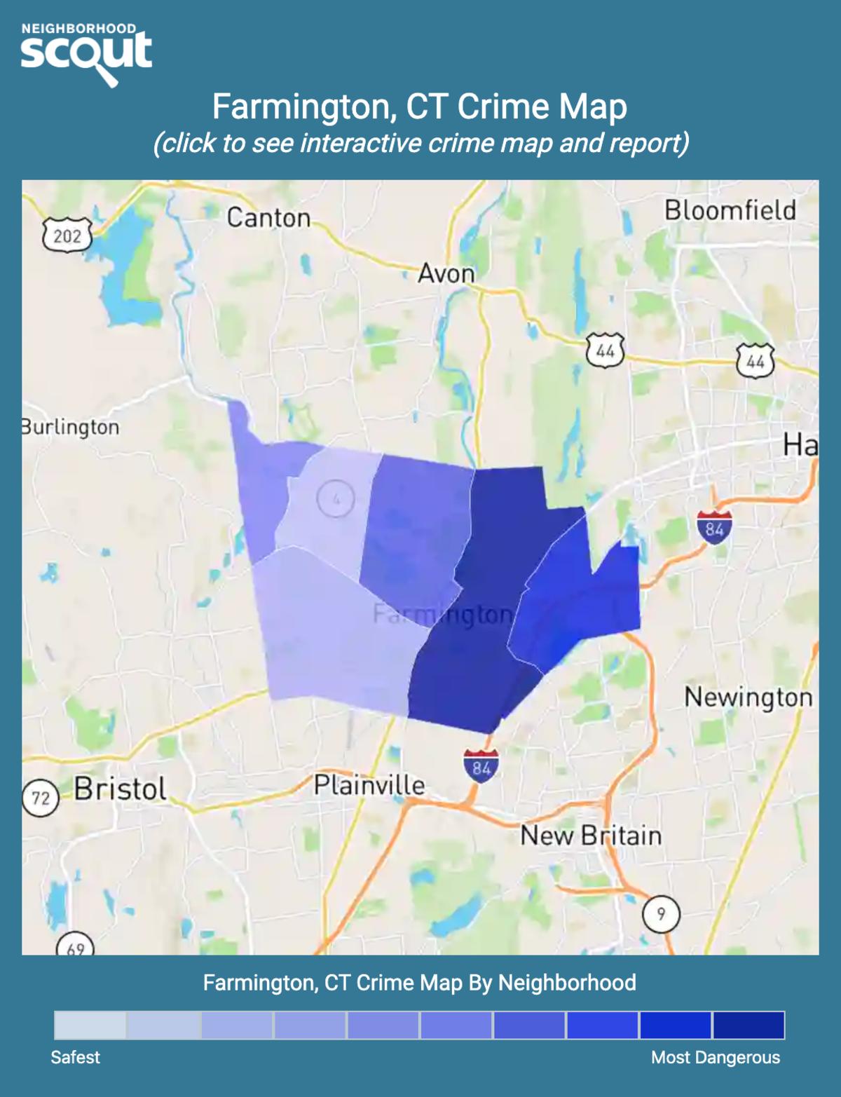 Farmington, Connecticut crime map