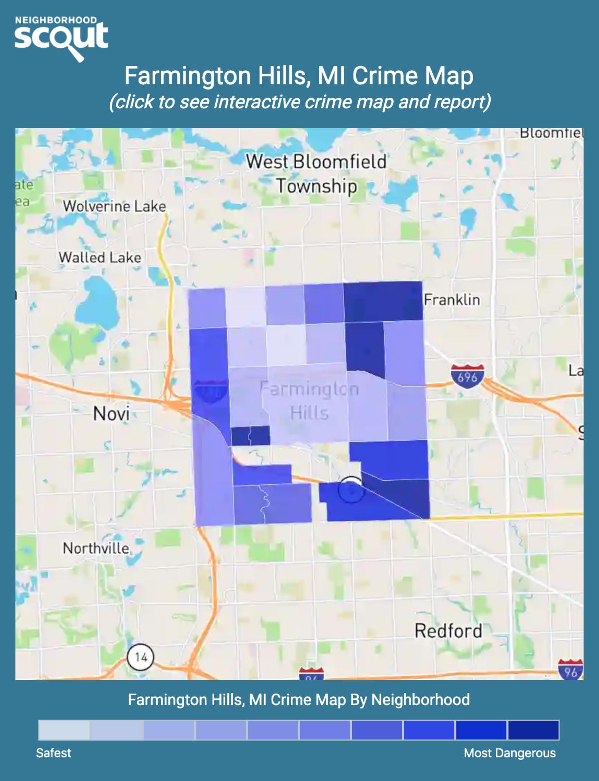 Farmington Hills, Michigan crime map