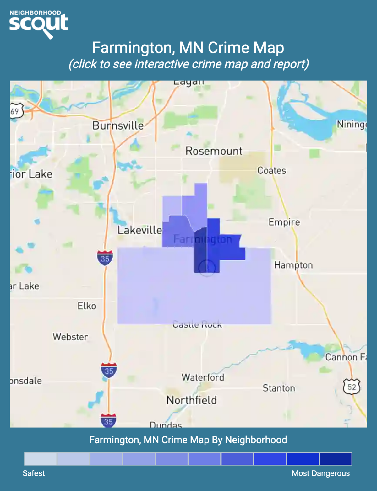 Farmington, Minnesota crime map