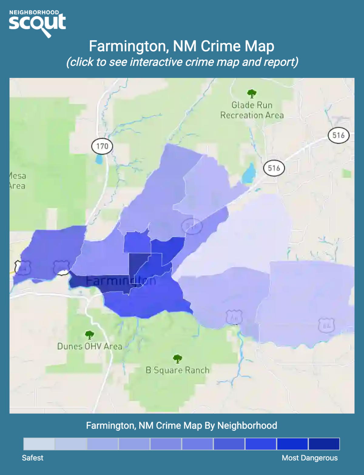 Farmington, New Mexico crime map