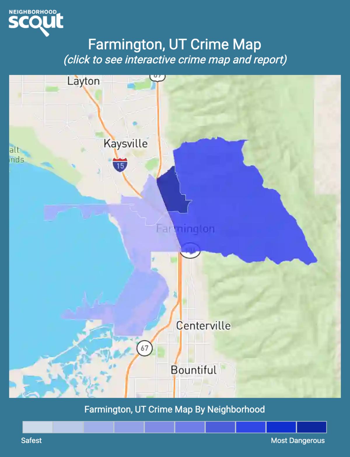 Farmington, Utah crime map