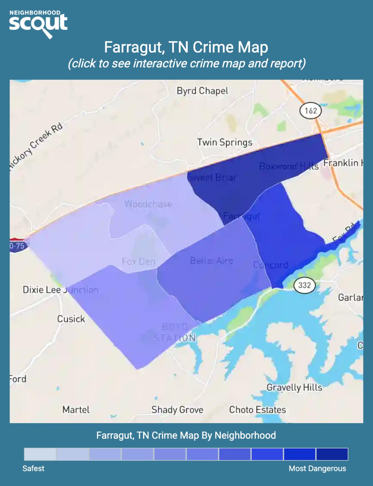 Farragut, Tennessee crime map
