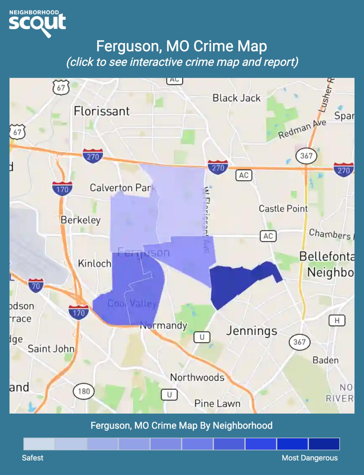 Ferguson, Missouri crime map