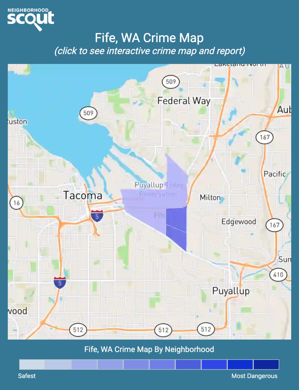 Fife, Washington crime map
