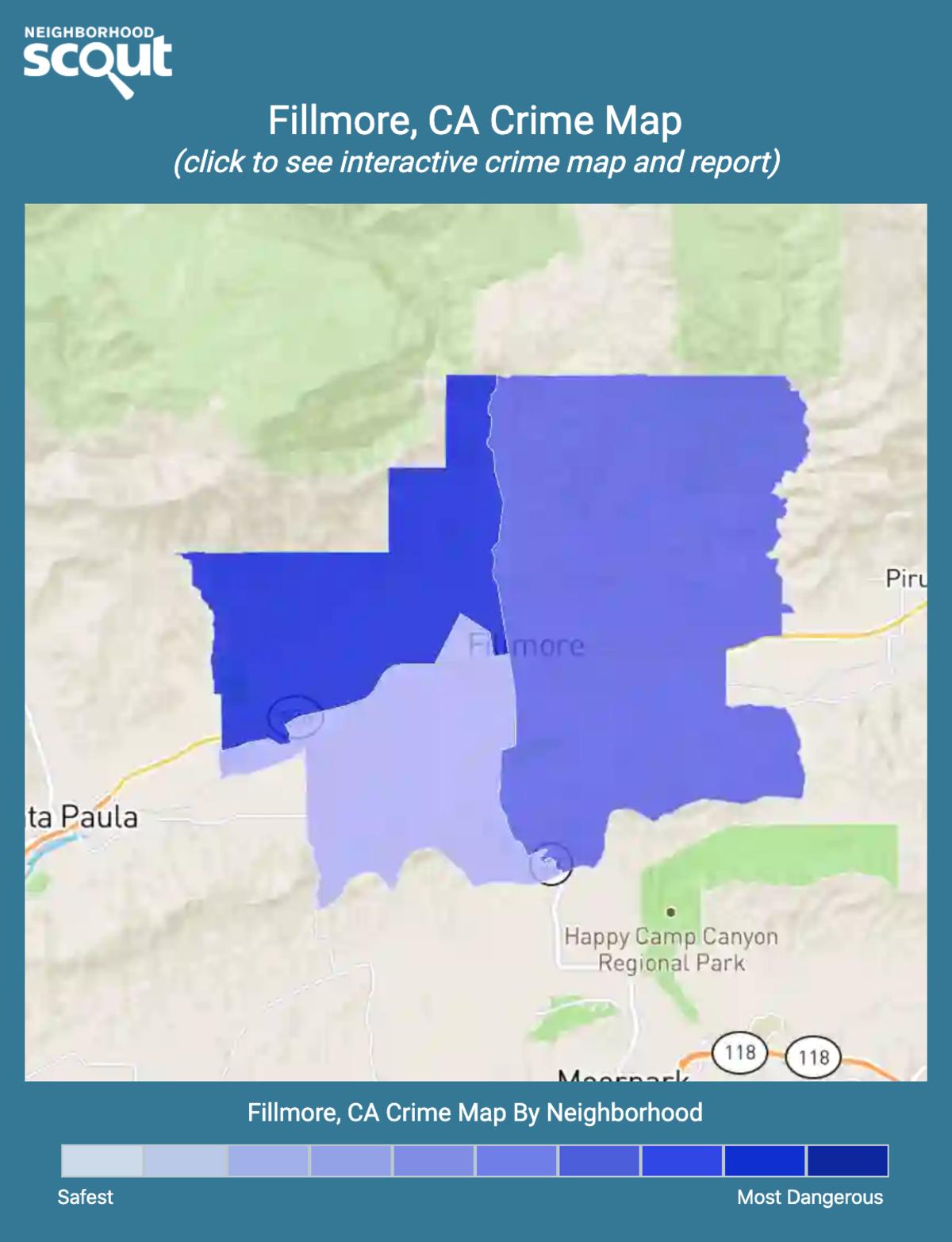 Fillmore, California crime map