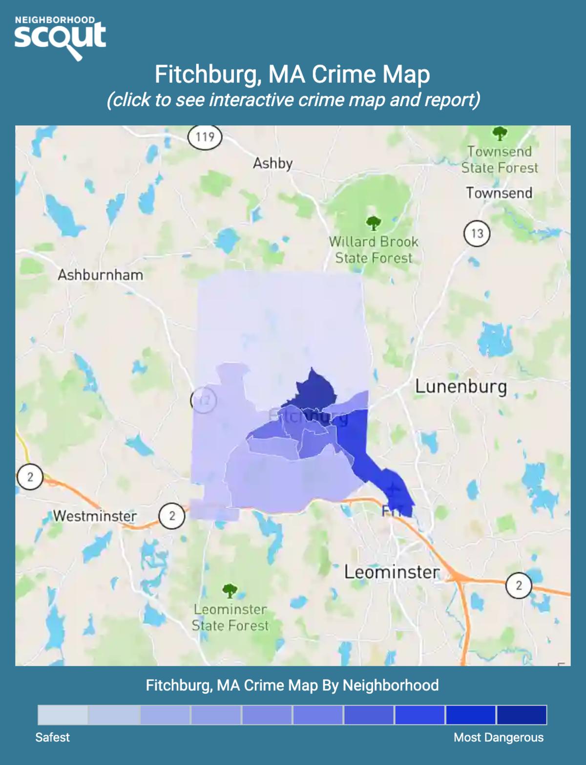 Fitchburg, Massachusetts crime map