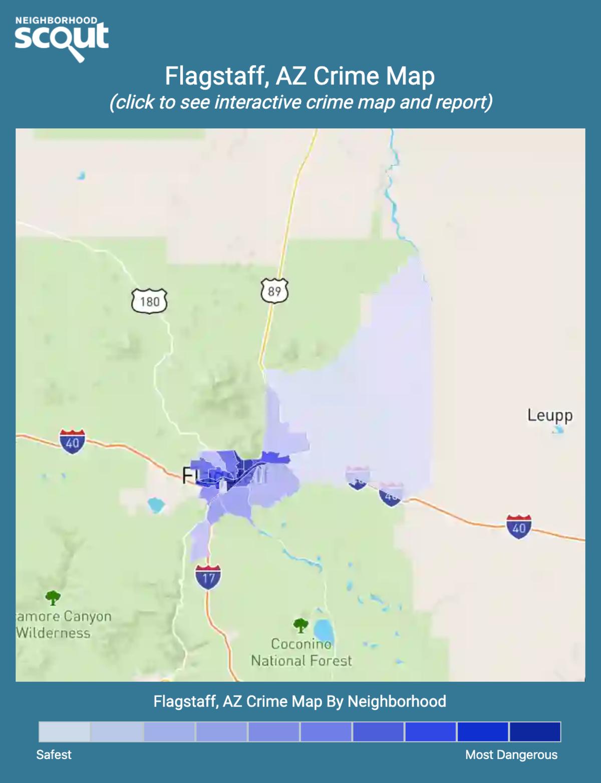 Flagstaff, Arizona crime map