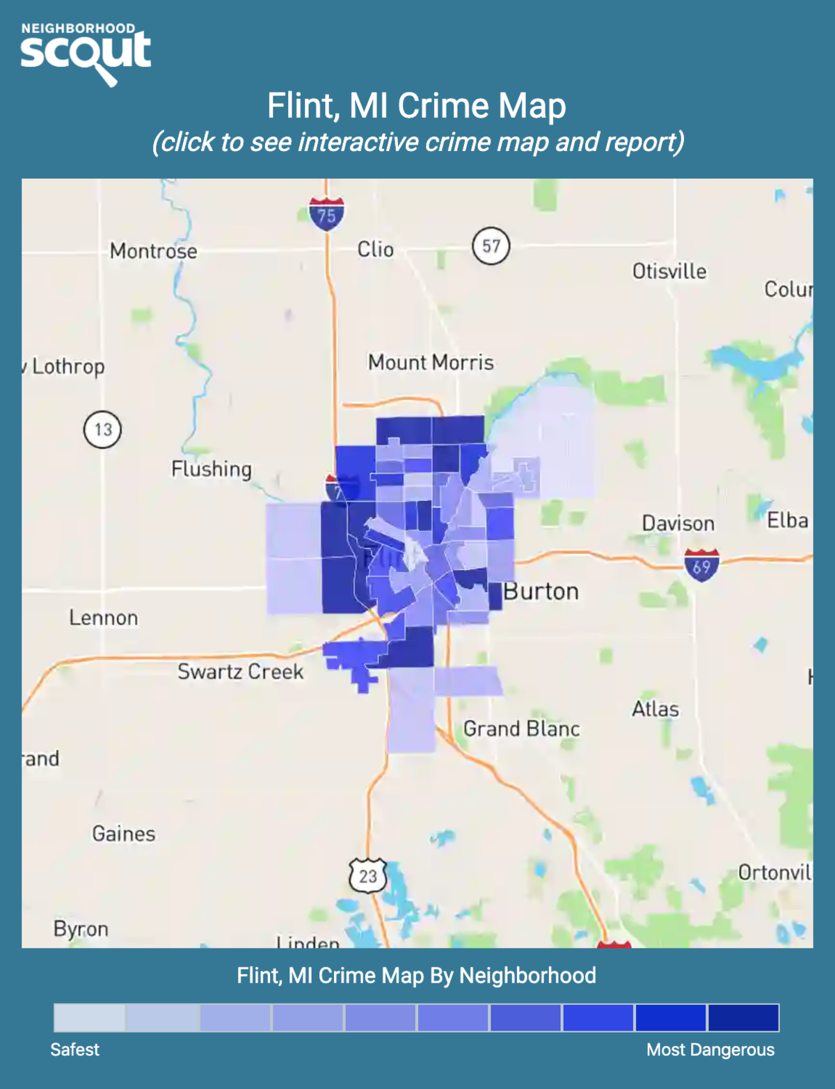 Flint, Michigan crime map