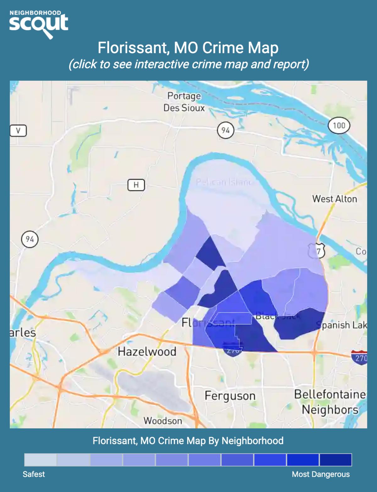 Florissant, Missouri crime map