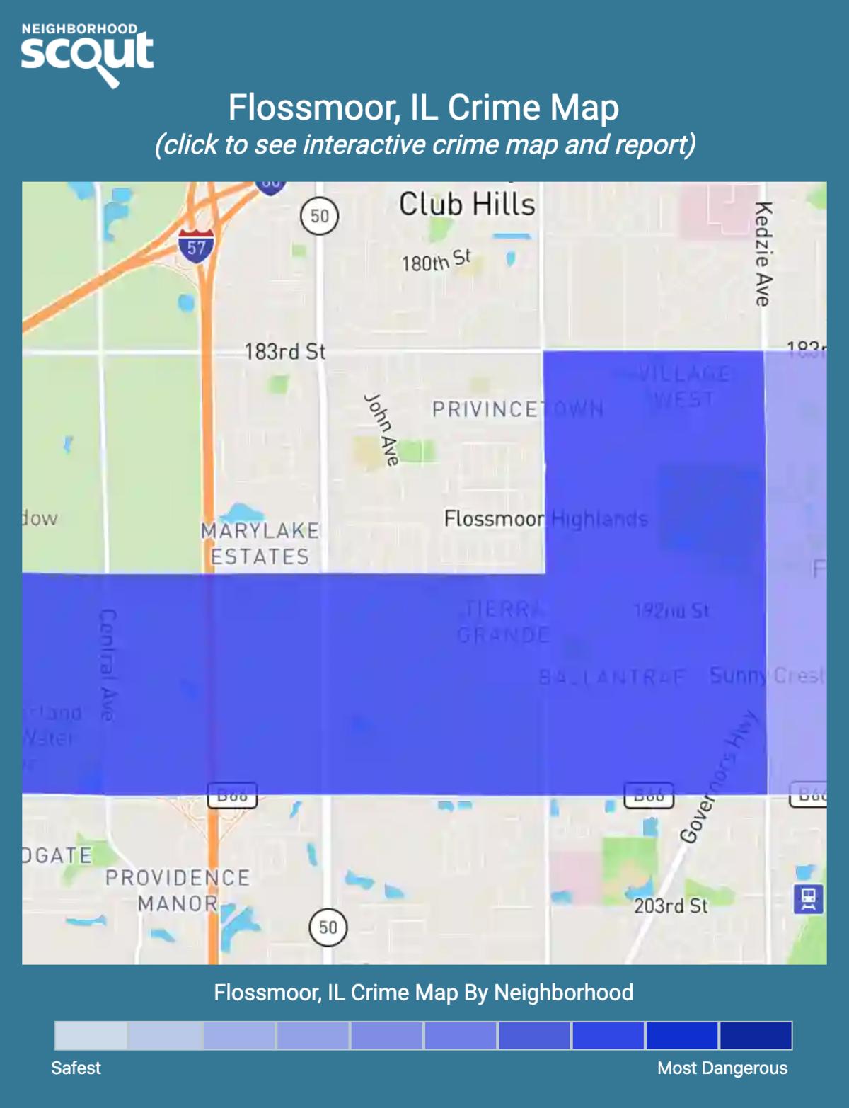 Flossmoor, Illinois crime map