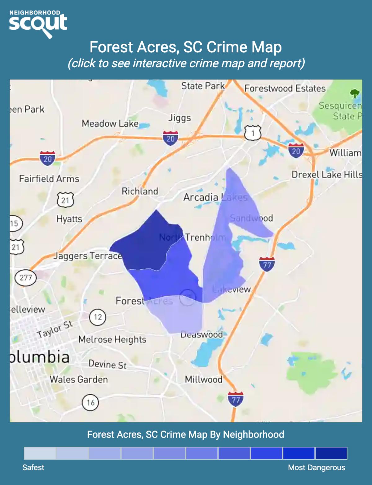 Forest Acres, South Carolina crime map
