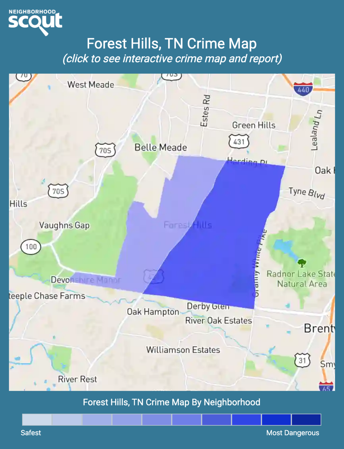 Forest Hills, Tennessee crime map